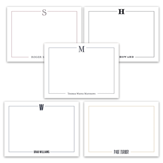 Mr. Simple Notecard set