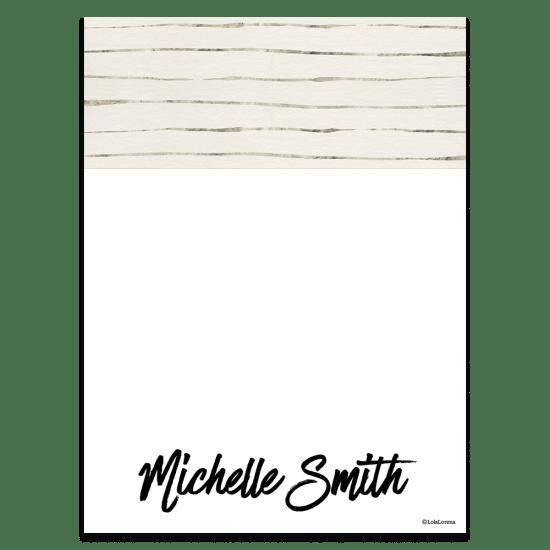 Platinum Stripe Notecards