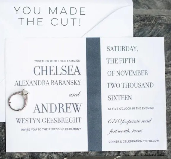 Simple Modern Wedding