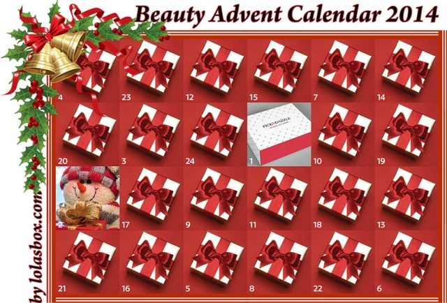 Beauty Christmas Advent Calendar, day 1