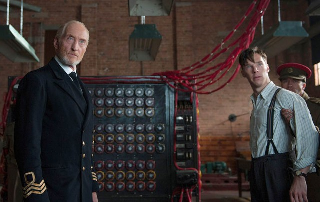 Commander Denniston (Charles Dance) & Alan Turing (Benedict Cumberbatch)
