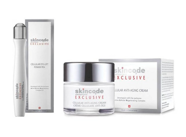 SKINCODE Exclusive cremă celulară antirid & roll-on contur ochi