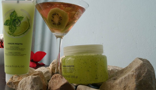The Body Shop Virgin Mojito, sorbet & exfoliant