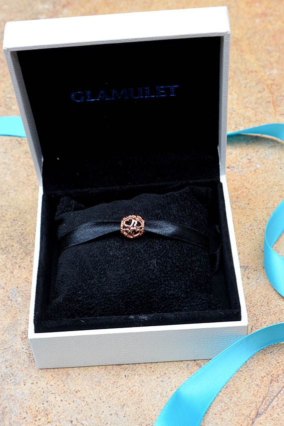 Glamulet, Rose Gold Plated Love All Around Charm
