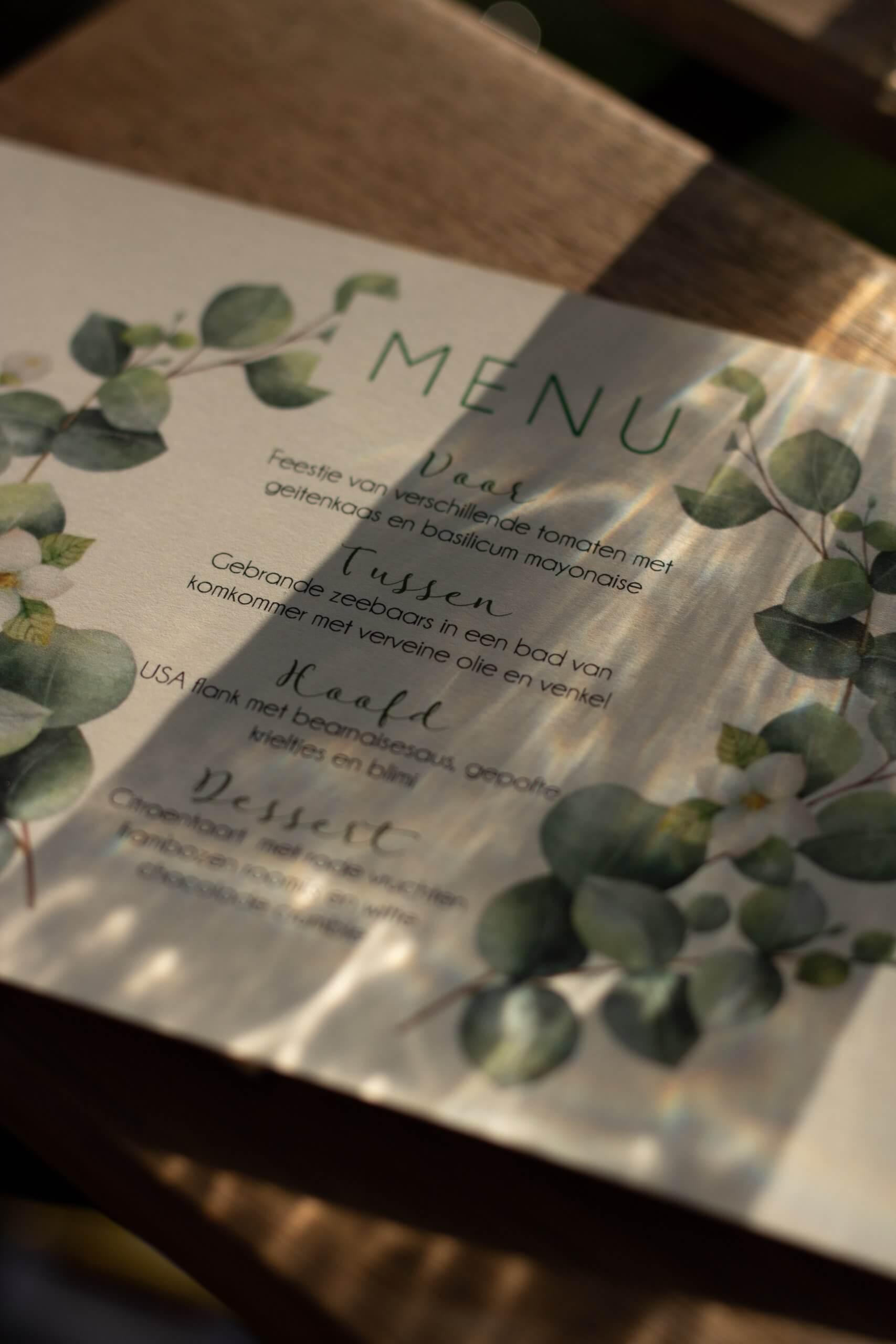 menukaart lola's polder diner
