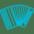 accordéon bleu