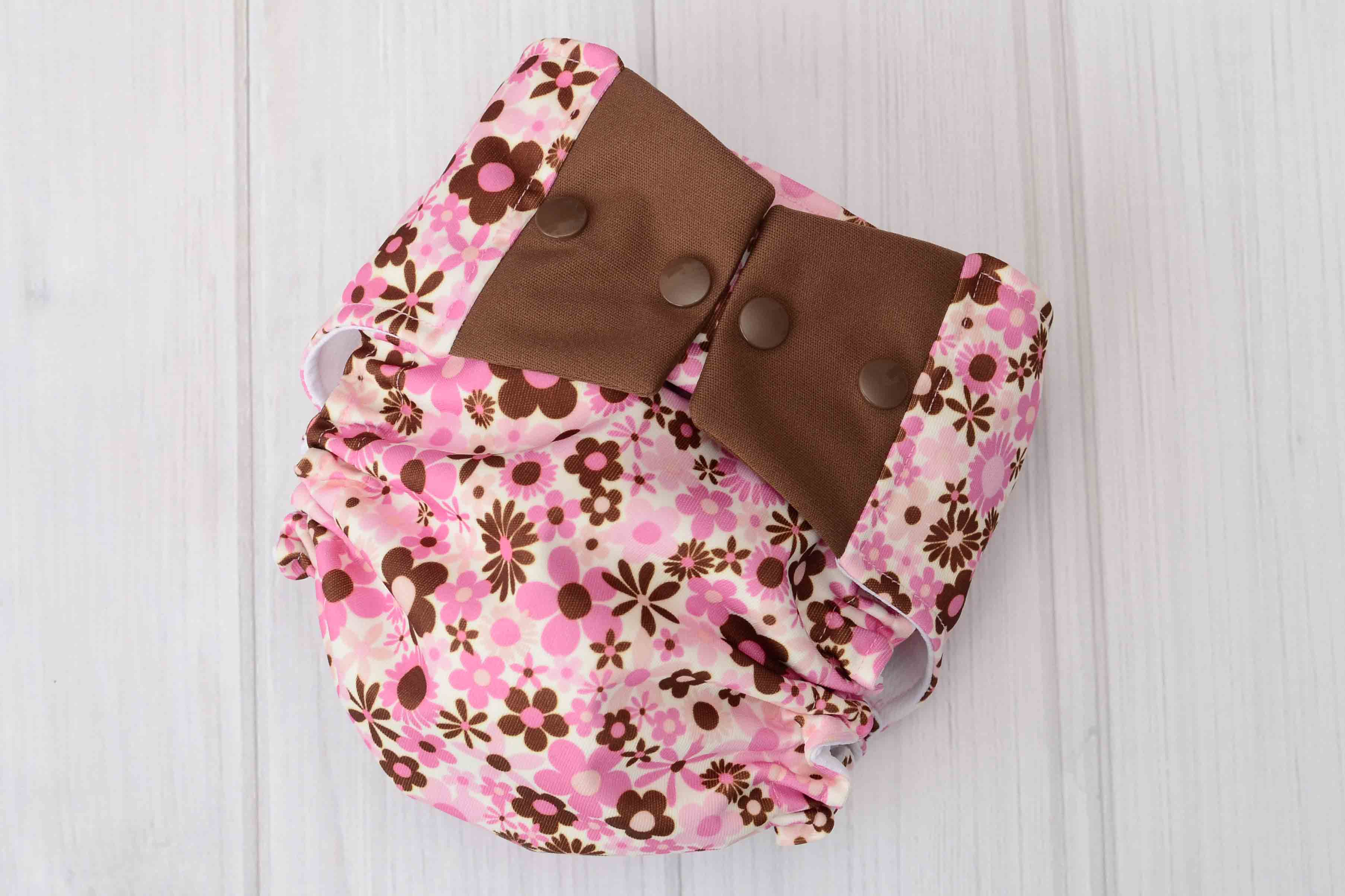 Pink Butterfly Cloth Diaper Cover
