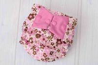 Pink Flowers Cloth Diaper Cover - Labor of Love Baby Boutique