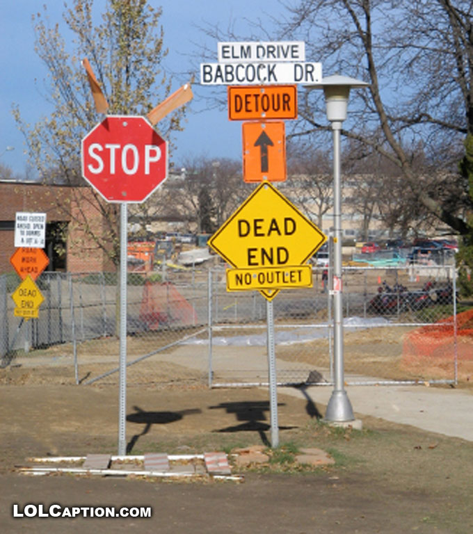 Funny signs: The best detour of all time - Epic Fail Pics