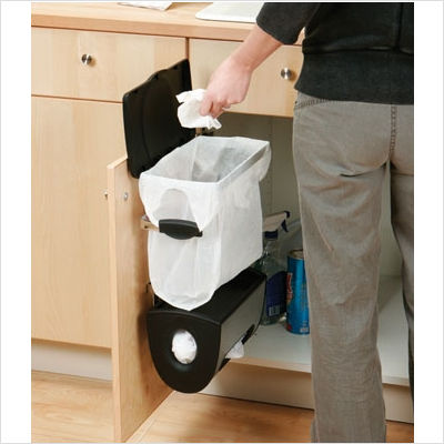undercounter kitchen trash can industrial chairs csn simplehuman cabinet mount system