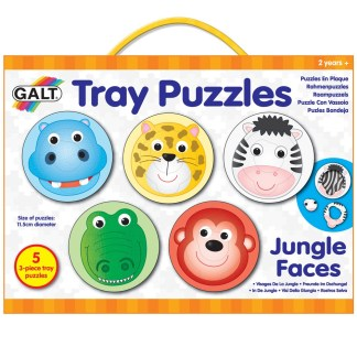 Tray Puzzles Jungle Faces