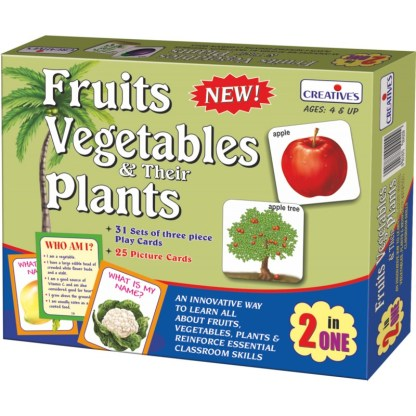 Fruits Vegetables & their Plants 2 in 1