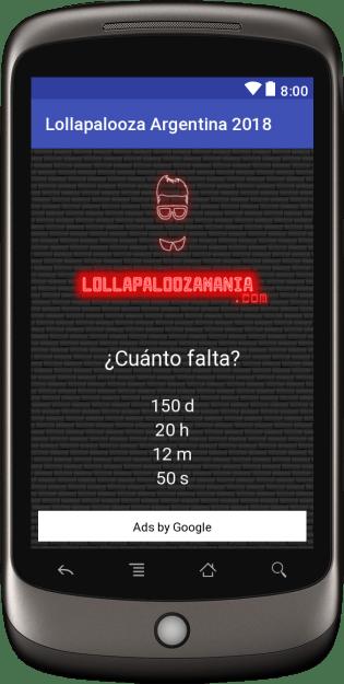 App Lollapalooza Argentina 2018