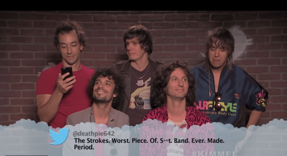 The Strokes se reunió para leer insultos