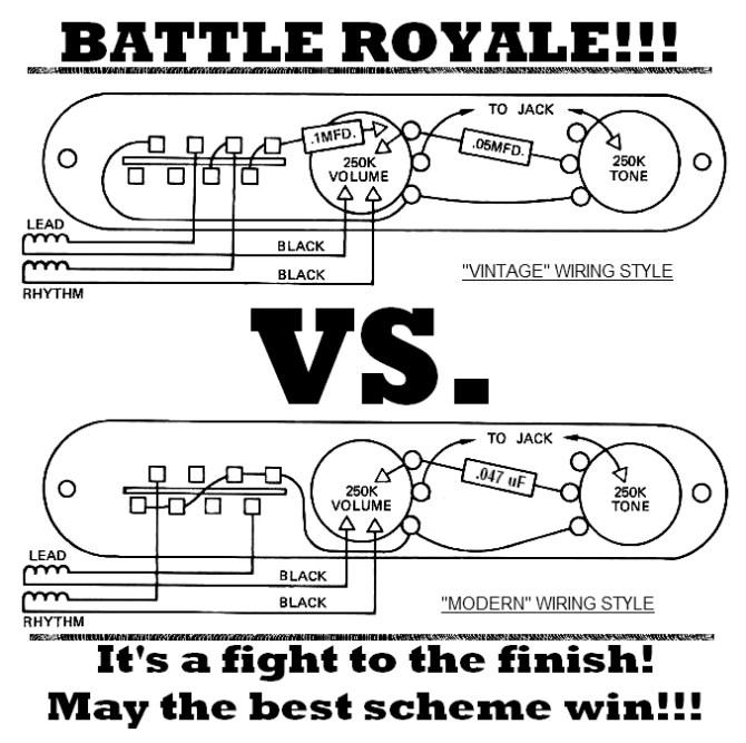 tele wiring battle royale – vintage vs modern  lollar