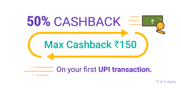 Phone Pe – Get 50% Cashback On Your First Transaction
