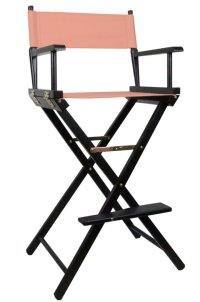 Tall Directors Makeup Chair with Pink Canvas | Lolliprops ...