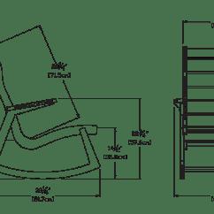 Rocking Chair Height Yoga Swing Rapson Loll Trade