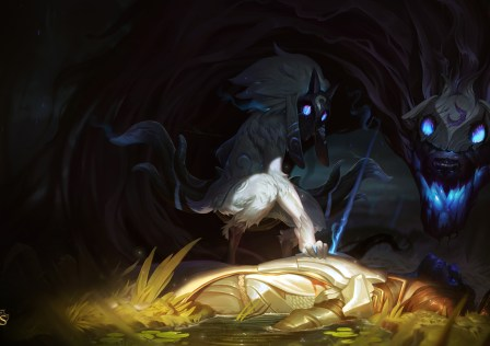 kindred wallpaper league of legends
