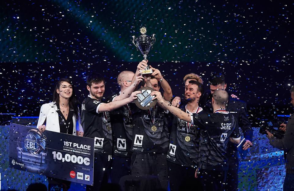 KlikTech winning the eSports Balkan League