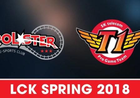 SKT vs KT Rolster - LCK Spring 2018
