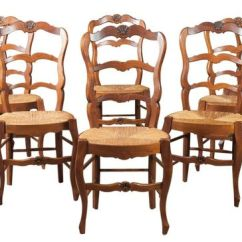 Rush Seat Chairs Hsl Chair Accessories Lolo French Antiques Set Of Eight Country