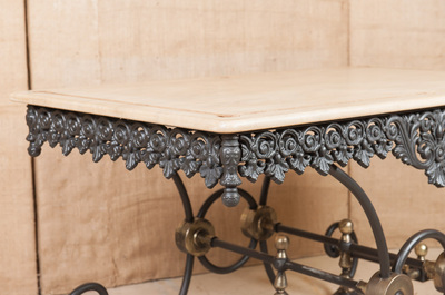 LOLO FRENCH ANTIQUES FRENCH BUTCHER/PASTRY TABLE