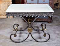 LOLO FRENCH ANTIQUES SMALL FRENCH BUTCHER/PASTRY TABLE ...