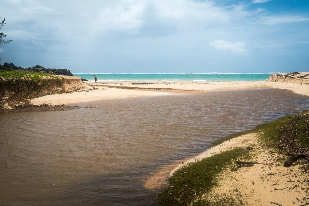 Rodrigues - Radier sur la plage de St François