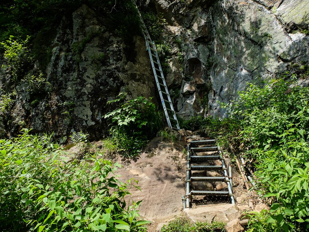 Mont Yake Dake - échelles sur le sentier