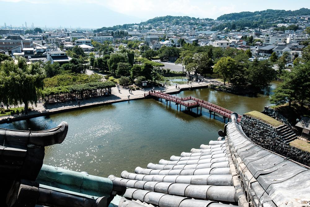 Vue depuis le château sur la ville de Matsumoto