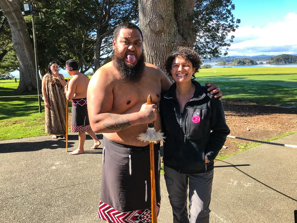 Laurence et le guerrier Maori