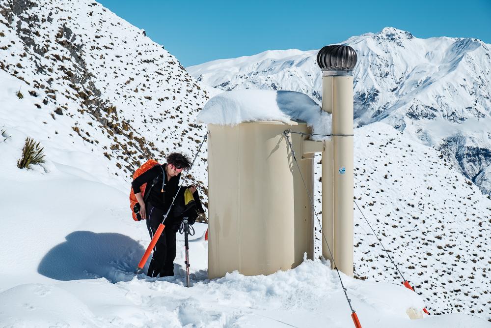 Comme toujours en NZ, les toilettes sèches sont partout!