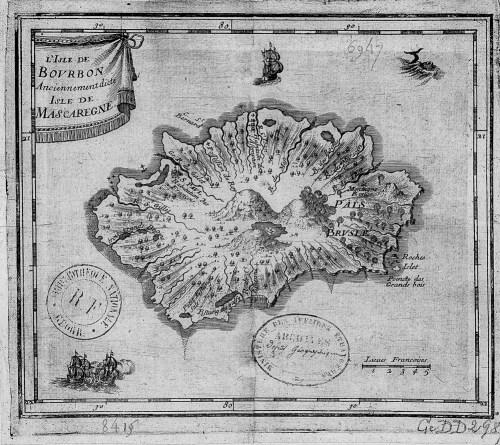 Carte de La Réunion 18e siècle