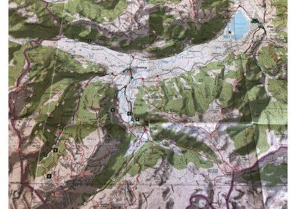 En haut droite Plav et son lac, puis Gusinje et à gauche Skala. Plein de possibilités et si peu de temps...beaucoup de voies d'escalades pour les plus férus !