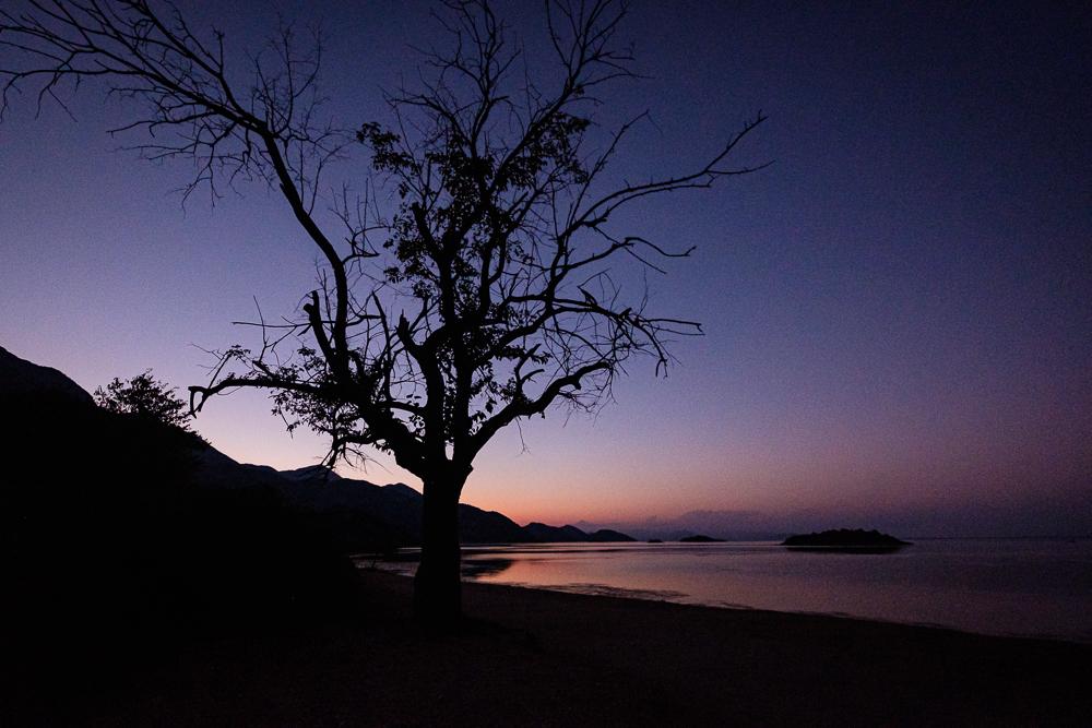 Crépuscule au lac SKADAR