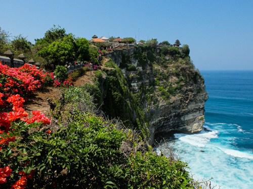 Très belle vue sur la falaise et l'océan indien