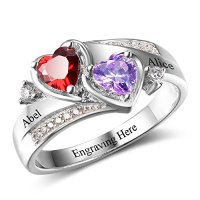 Diamondido Personalized Simulated Birthstones Promise ...