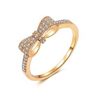 MDFUN Luxurious Rose Gold Plated Cubic Zirconia Infinity ...