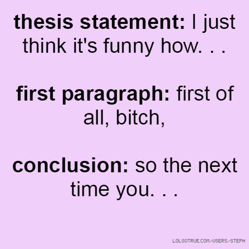 Thesis Funny Images