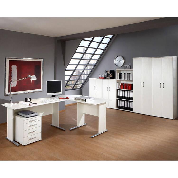 Schreibtisch Anstelltisch STETTIN16 weiss B x H x T 90 x 75 x 65 c