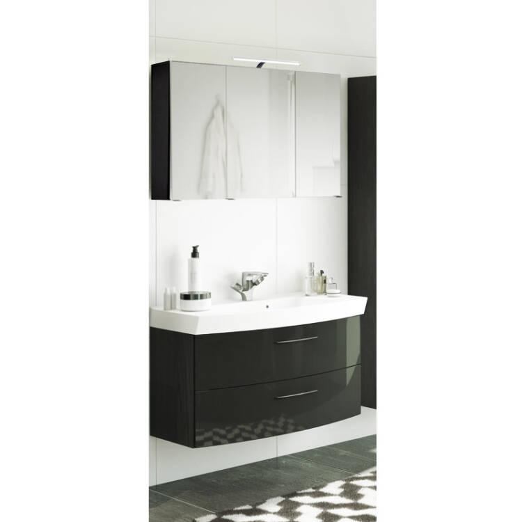 Waschtisch  Spiegelschrank Set FLORIDO03 Hochglanz