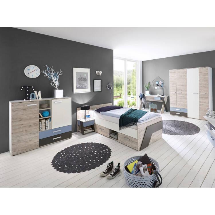 Jugendzimmer Set mit Schreibtisch 5teilig LEEDS10 in