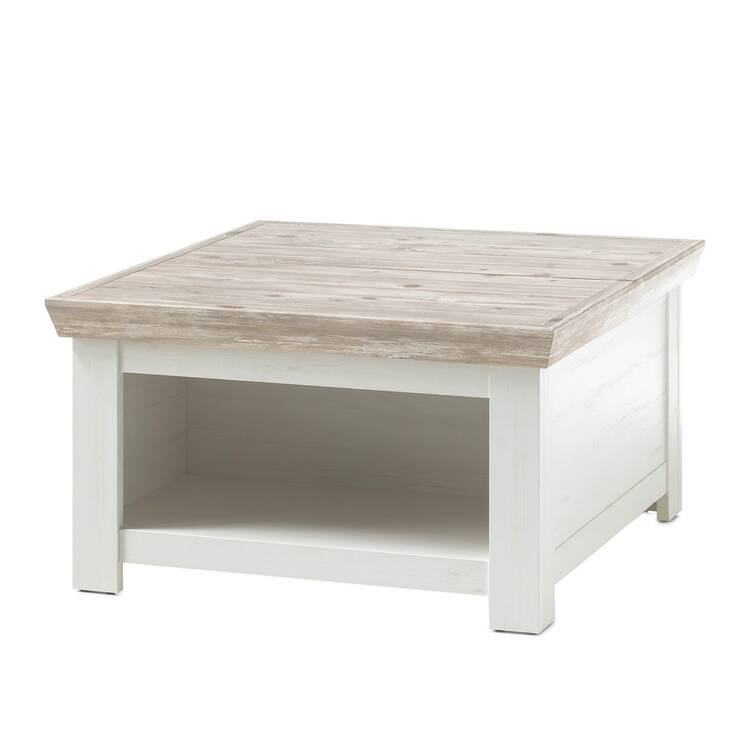 coffee table ferna 61 in country house style pine white and oslo pine dark nb with flap w h d approx 86x48x86cm