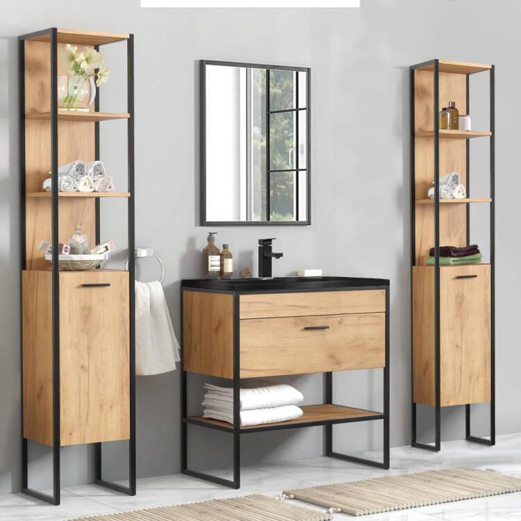 Bathroom Furniture Set In Industrial Design Manhattan 56 5 Piece Gold