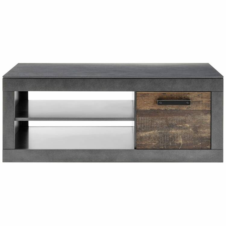 industrial design living room coffee table berlin 61 in old mix decor with matera grey w h d ca 110 43 63 cm