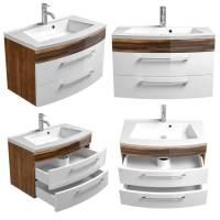 Waschtisch mit Unterschrank 80cm und Waschbecken RIMAO 02 ...