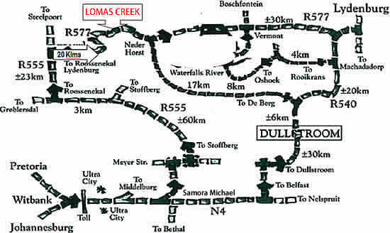 Contact Lomas Creek Country Cottages Roossenekal