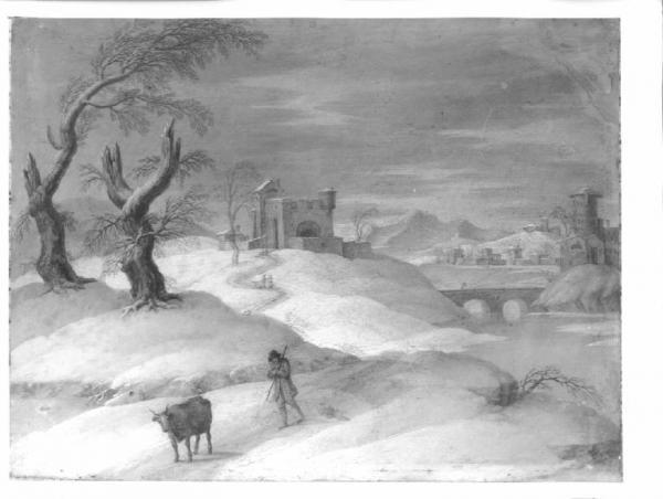 Paesaggio invernale Pittore italiano  Opere e oggetti darte  Lombardia Beni Culturali