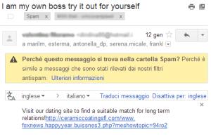 la mail ha molti destinatari, chi la manda è un virus!